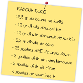 recette naturelle masque coco pour cheveux secs et ternes. Black Bedroom Furniture Sets. Home Design Ideas