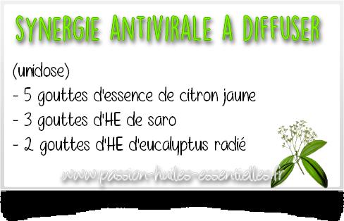synergie d'huiles essentielles antivirales