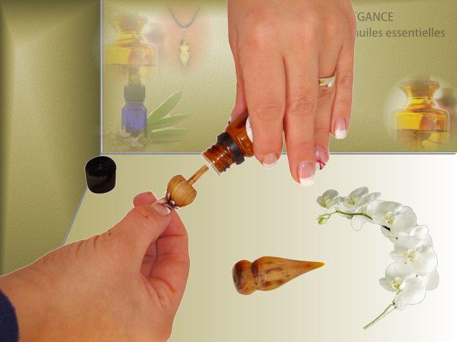 Remplissage du bijou-diffuseur d'huile essentielle
