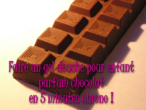 faire un gel douche enfant au chocolat
