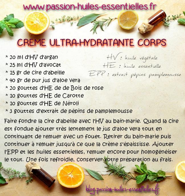 DIY recette crème hydratante corps