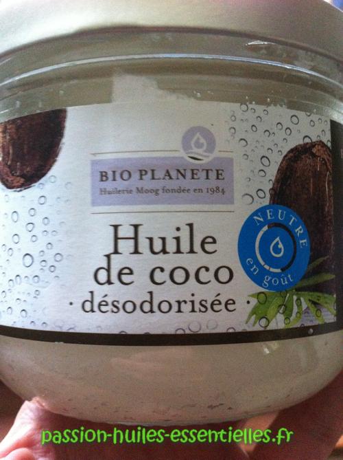huile de coco désodorisée