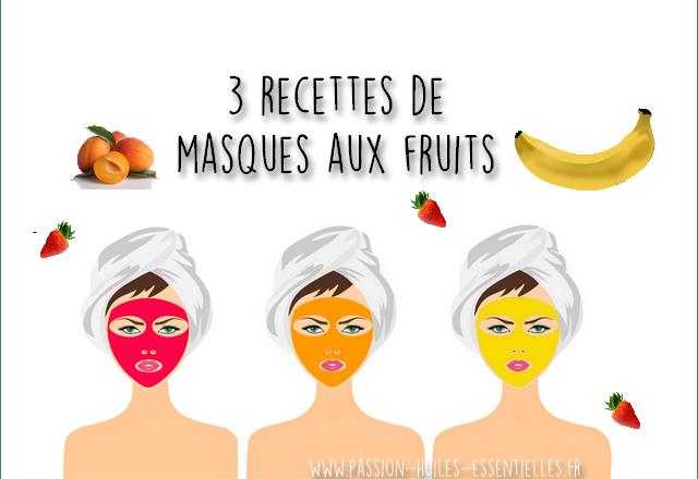 recettes de masques aux fruist
