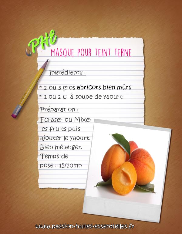 recette masque à l'abricot
