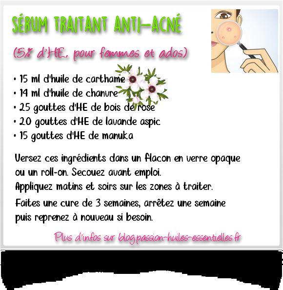 Recette de sérum anti-acné facile à faire