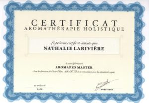 certificat aromathérapie holistique